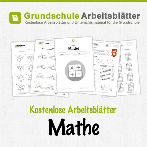 Kostenlose Arbeitsblätter und Unterrichtsmaterial für das Fach Mathe ...