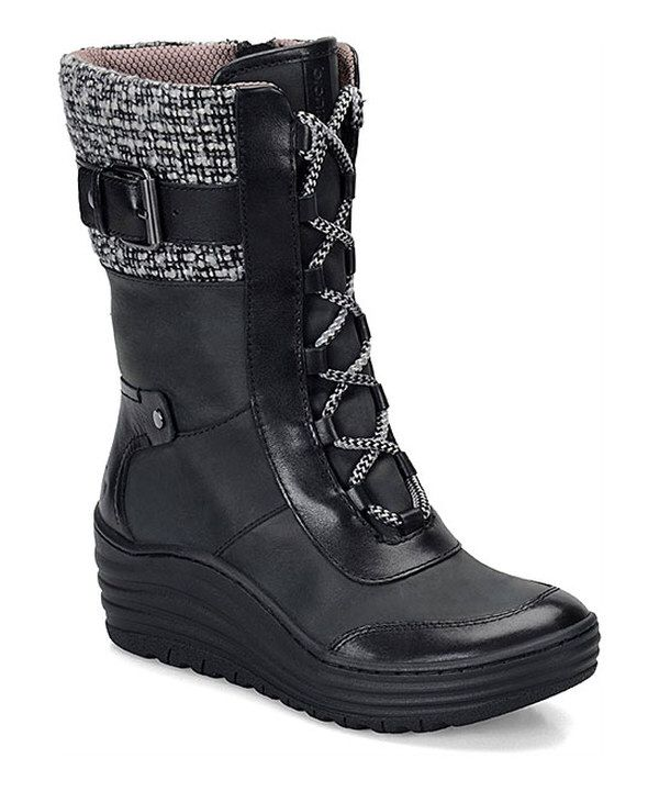 Look at this Black Leather Garland Boot on #zulily today!