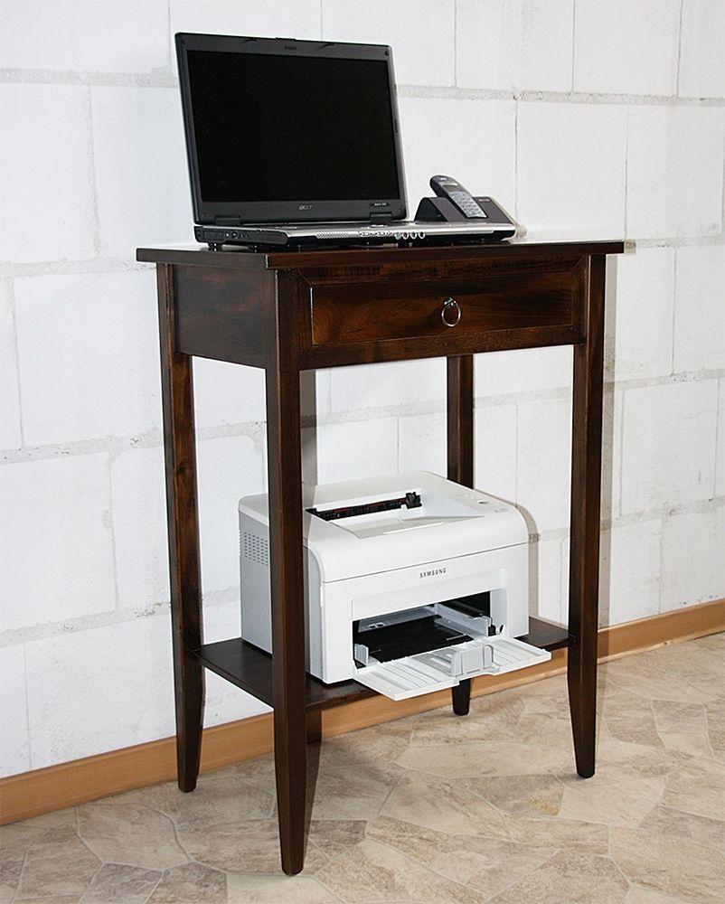 Telefontisch Beistelltisch Konsolentisch Laptoptisch Massiv Holz Braun  Nußbaum 140u20ac