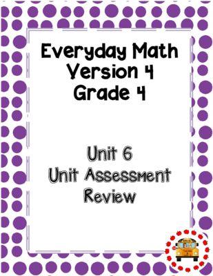 EM4 Everyday Math Grade 4 Unit 6 Study Guide From Teaching