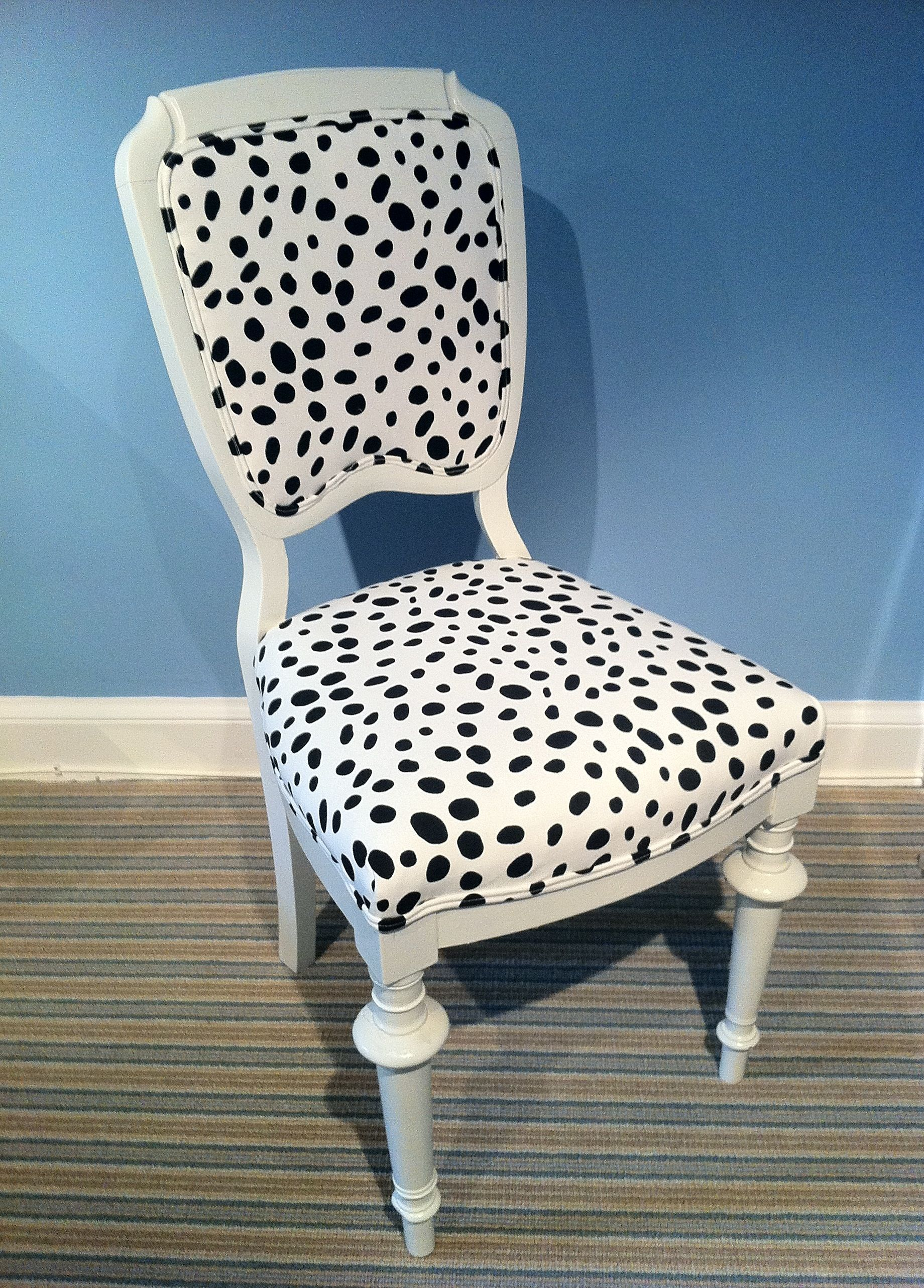 Isn't dalmatian fabric the funnest? | Chair, Furniture ...
