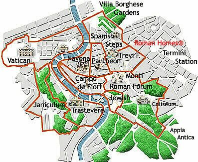 Rome guide map and all kinds of planning info European Travel