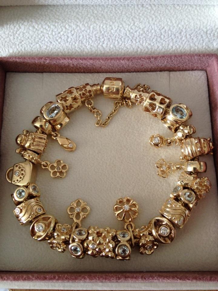 charms pandora gold
