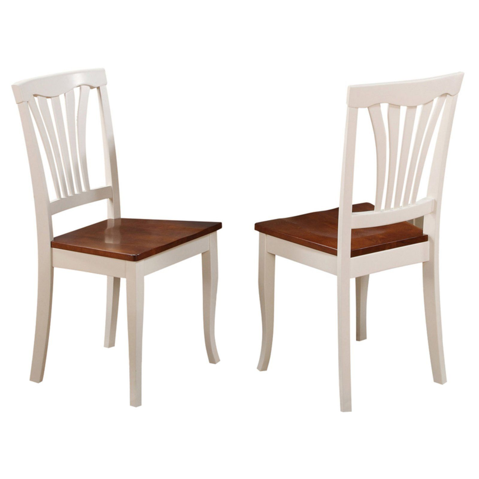 East West Furniture Avon Dining Chair With Wooden Seat Set Of 2 Solid Wood Dining Chairs Side Chairs Dining Dining Chairs