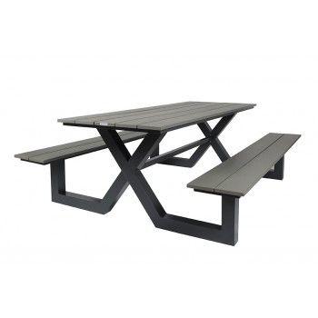 Picknick Tafel Aluminium.City Picknicktafel Polydesign 210 Cm Aluminium Onderstel Polywood