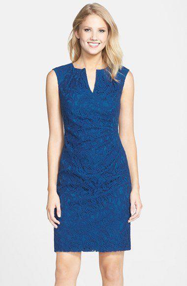 Adrianna Papell Lace Sheath Dress (Regular & Petite ...