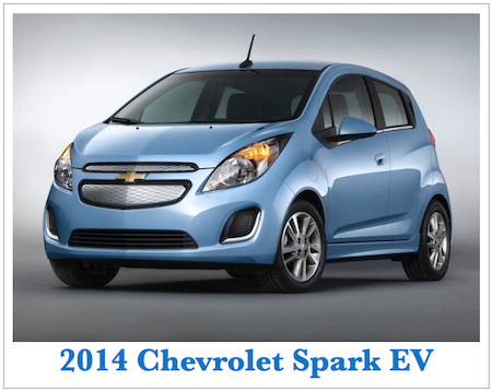 Chevrolet Spark EV. A 2014 model that goes on sale in
