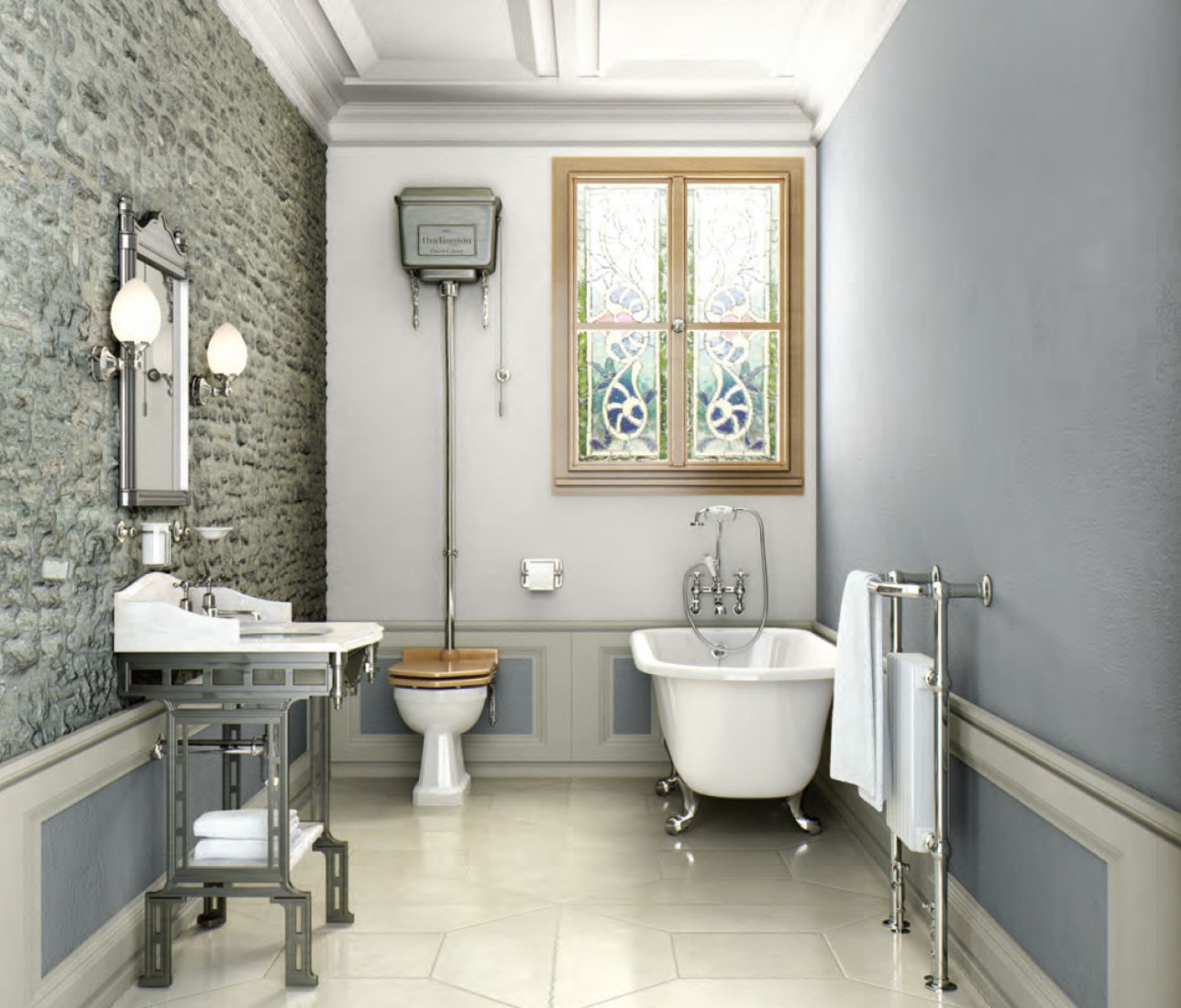 Traditional Victorian Style Tiles In A Wetroomdescription From Gorgeous Victorian Bathroom Design Ideas Review