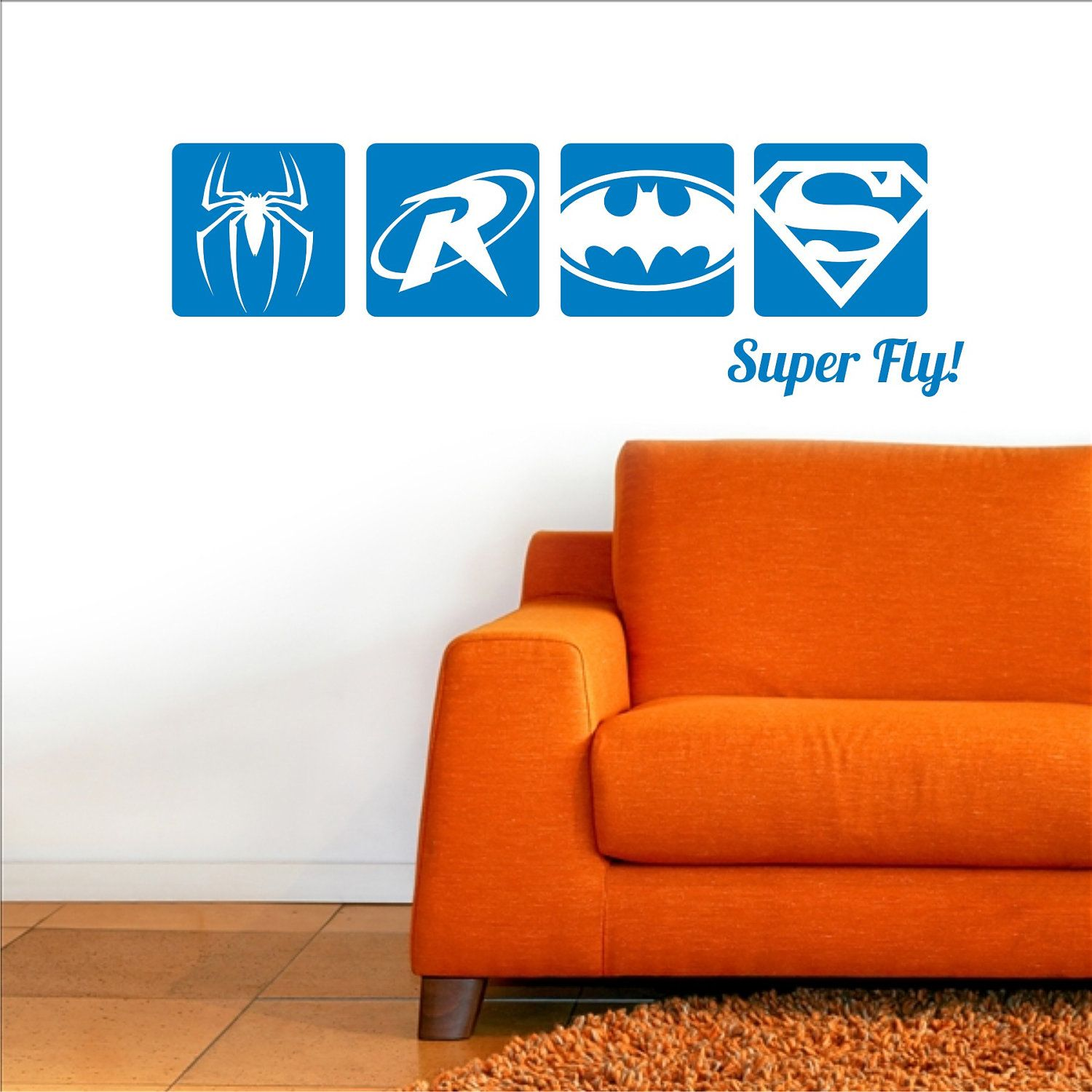 SUPERHERO Wall Decal Spiderman Robin Green Lantern Flash - Superhero wall decals for kids roomssuperhero wall decal etsy