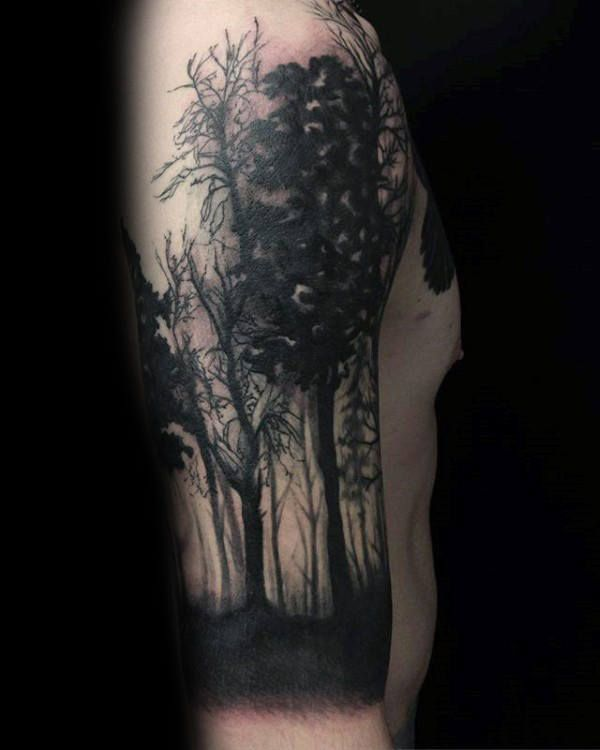 ecb34ff56 100 Forest Tattoo Designs For Men - Masculine Tree Ink Ideas ...