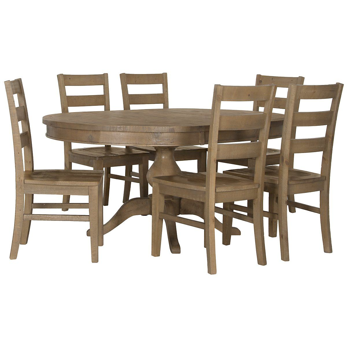 Round dining table and chairs for 4  Jaden Light Tone Round Table u  Wood Chairs  kitchen table