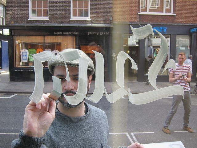 Performance for Carhartt shops | London 12th 13th march 2011. by Luca Barcellona - Calligraphy & Lettering Arts, via Flickr