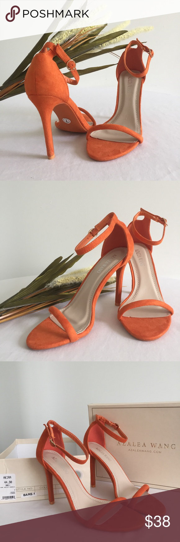 5c2ab492e91 BNWT Azalea Wang Orange Strappy Heels A pair of brand new with tags