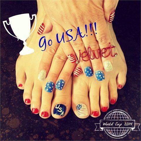 Nail art designs for World Cup 2014 » Nail Designs #USA #prom world cup nail art