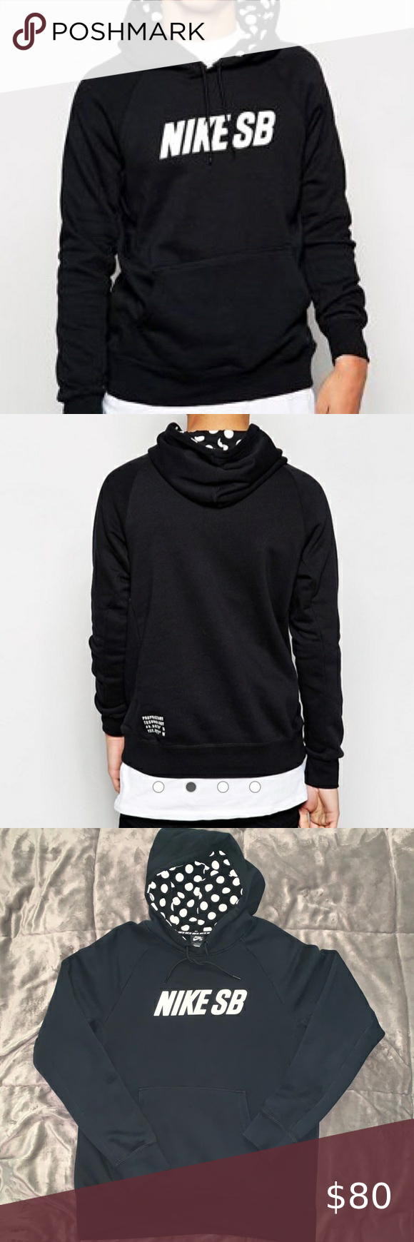 Nike Sb Hoodie With Polka Dot Hood Size L Hoodies Long Sleeve Tshirt Men Nike Sb [ 1740 x 580 Pixel ]