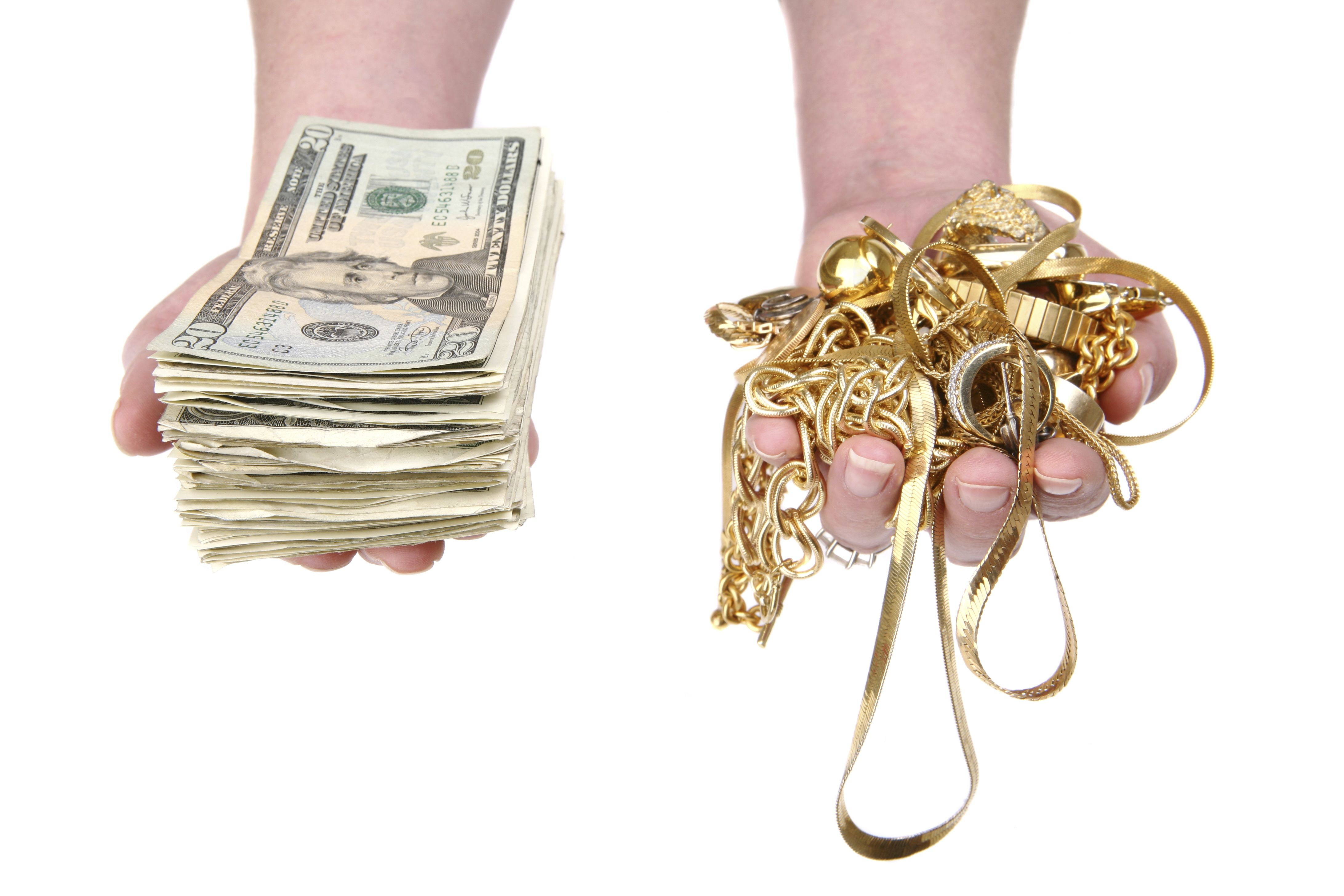 Sell us your gold jewelry and well give you cash in as little as