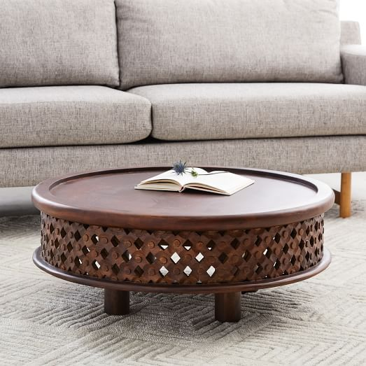 Carved Wood Coffee Table, Cafe | Wood Coffee Tables, Carved Wood And Woods