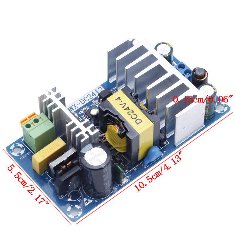 전원 모듈 AC 110 볼트 220 볼트 DC 24 볼트 6A AC-DC 스위칭 전원 보드