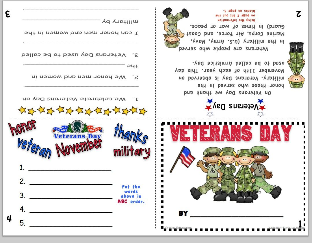 Veteran S Day Booklet Veterans Day Activities Student Teacher Gifts Teaching Social Studies [ 844 x 1080 Pixel ]