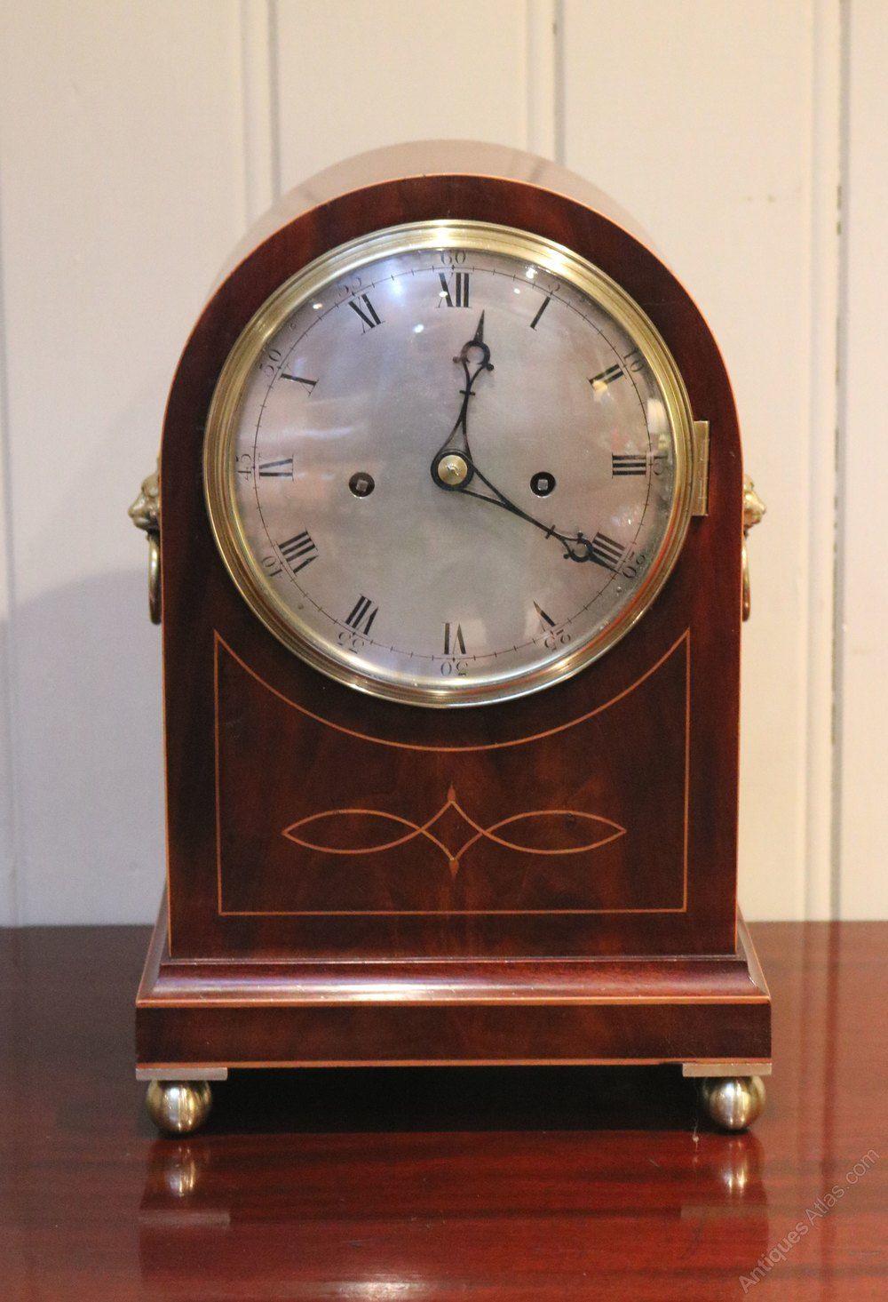 Mahogany And Inlay Fusee Bracket Clock Relojes Antiguos Relojes De Pared Reloj