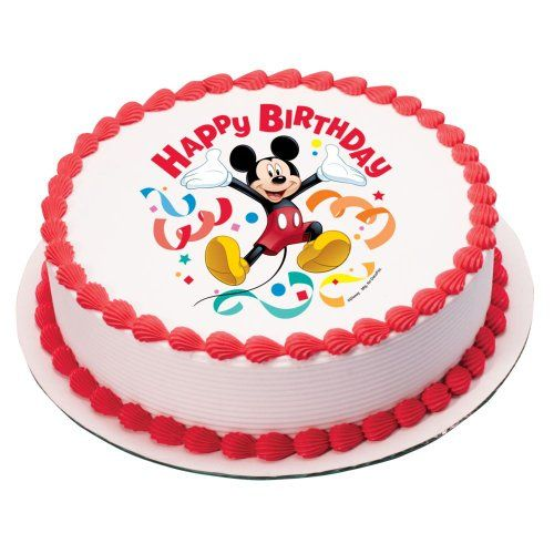 Ice Cream Cake Edible Image : Mickey Mouse Clubhouse Streamer Edible Image Cake Topper ...
