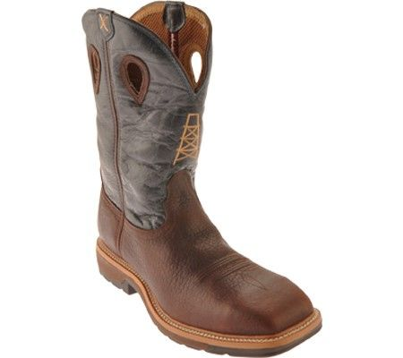 fb4b5f759af Twisted X Boots Men's MLCS006 Lite Weight Work Boot Safety Toe Oiled ...