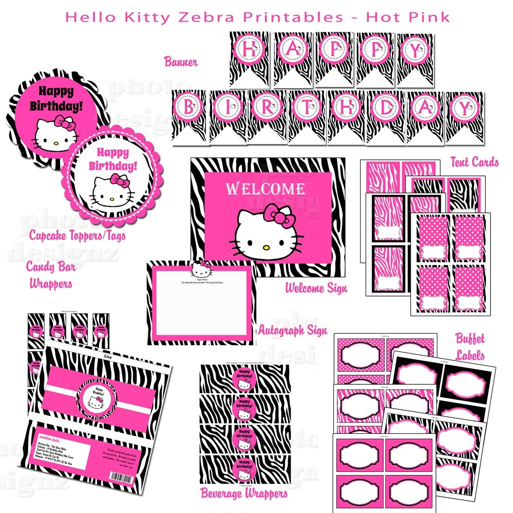 Hello Kitty Birthday Cards Free Printable Sign Files Are