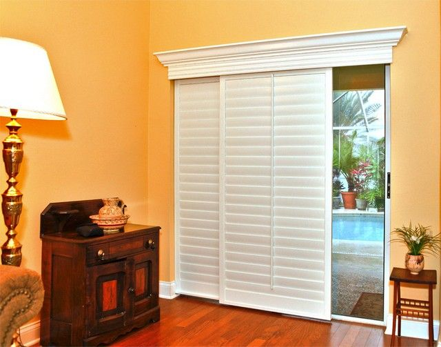 Plantation Shutters For Sliding Doors Bedroom Ideas