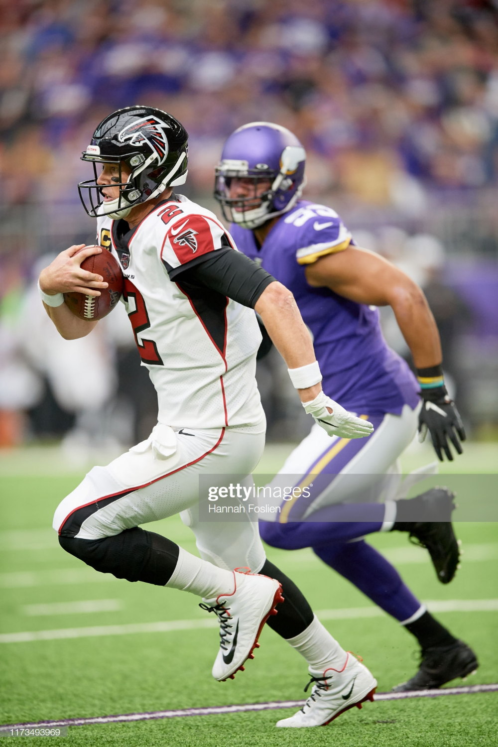 Matt Ryan Of The Atlanta Falcons Carries The Ball Against The Atlanta Falcons Matt Ryan Atlanta
