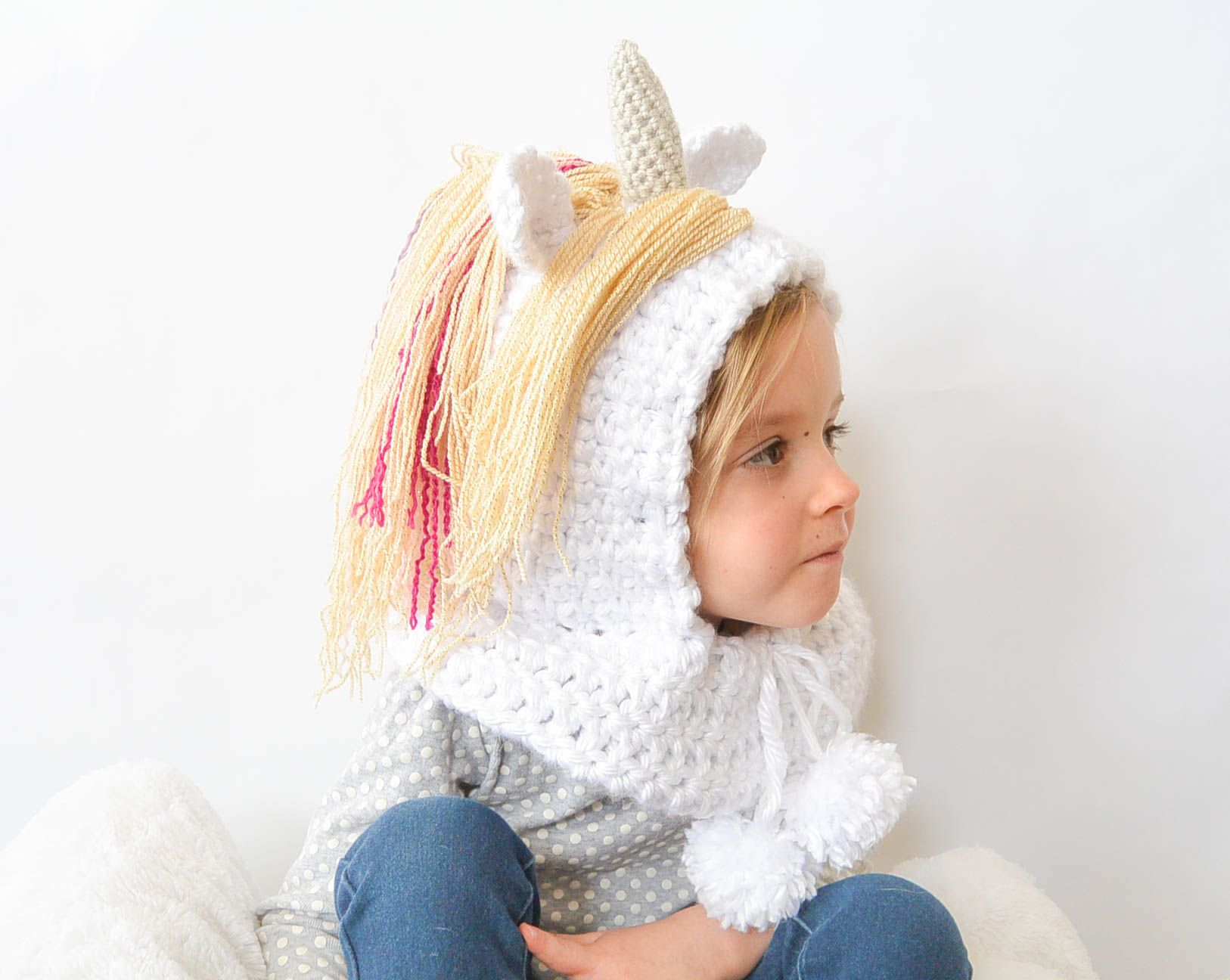 Toddler Magical Unicorn Crochet Hood Pattern | Things I want to make ...