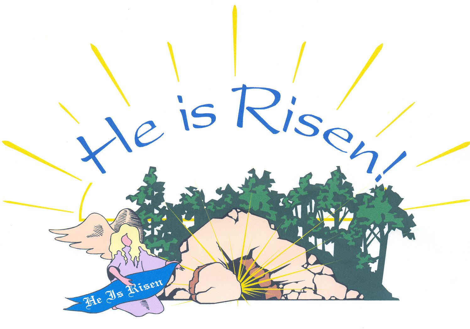 free christian clip art free christian wallpaper jesus is risen he is risen [ 1496 x 1048 Pixel ]