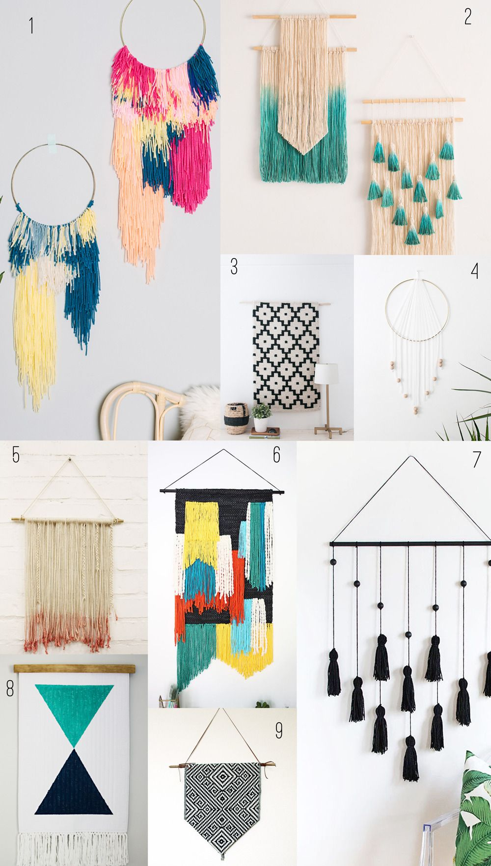 9 Amazing Diy Wall Hangings Tell Love And Party Tl P Has Rounded Up Some Amazing Diy Wall Hangings Here I Know Wall Hanging Diy Diy Wall Decor Diy Wall Art