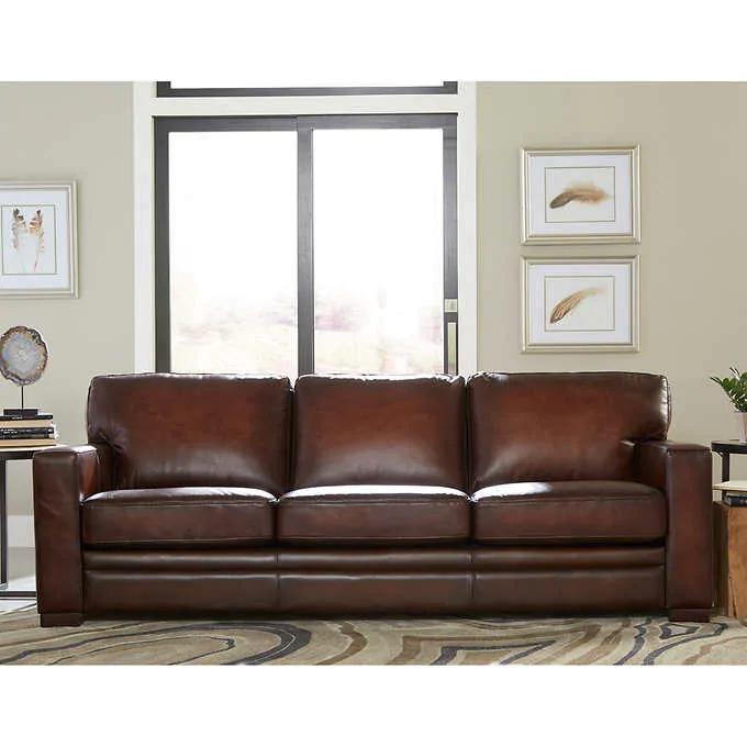 Luca Top Grain Leather Sofa in 2020 Leather sofa, Shabby