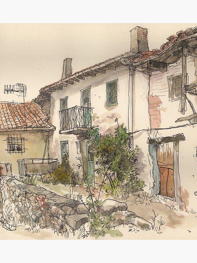 'Casa en el Otero, Guardo' Poster by Adolfo Arranz
