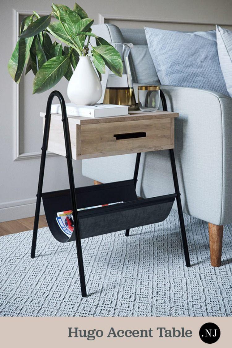 "Hugo 25"" Night Stand Furniture, Storage furniture, 2x4"