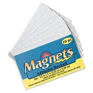 Magnet Black 3 12 X 2 Inch Rectangle With Adhesive Backing For