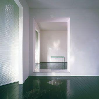 Green floors. Van Royen Apartment by John Pawson