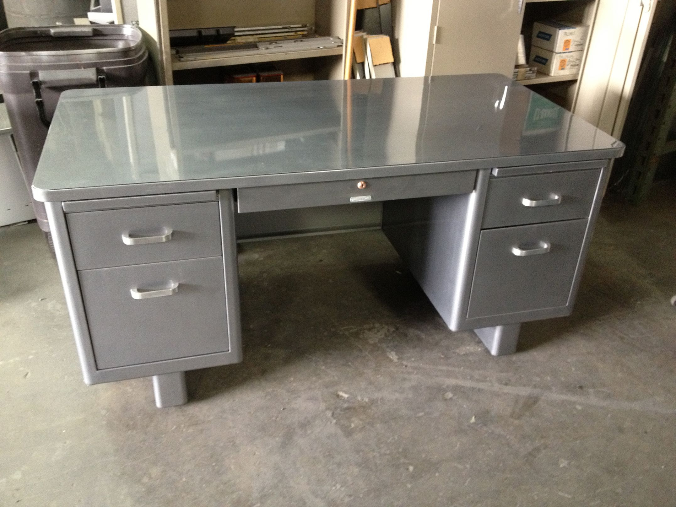 salvaged desk things tanker office furniture metal olde good