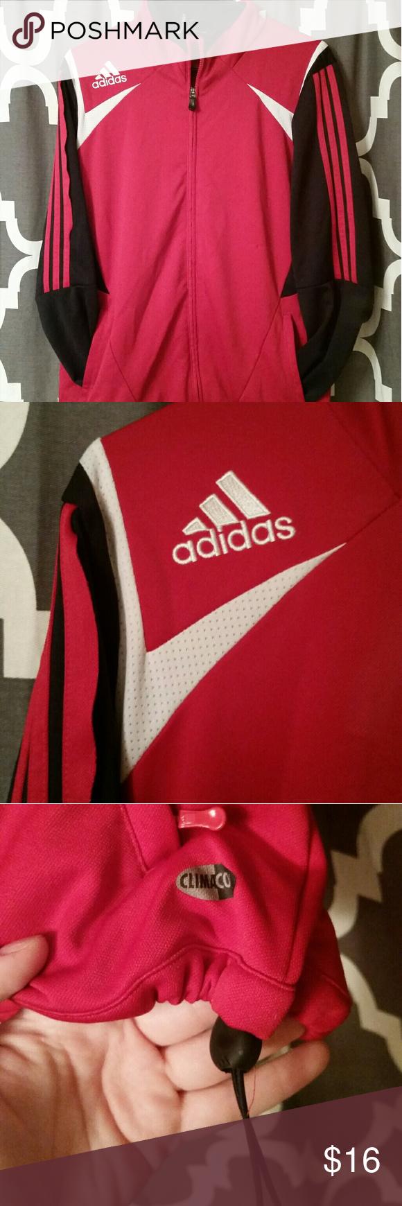 Adidas sports jacket Red clima365 Adidas jacket. Adjustable