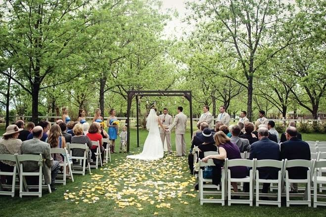 Wedding A Beautiful Outdoor Ceremony At Venue The Grove