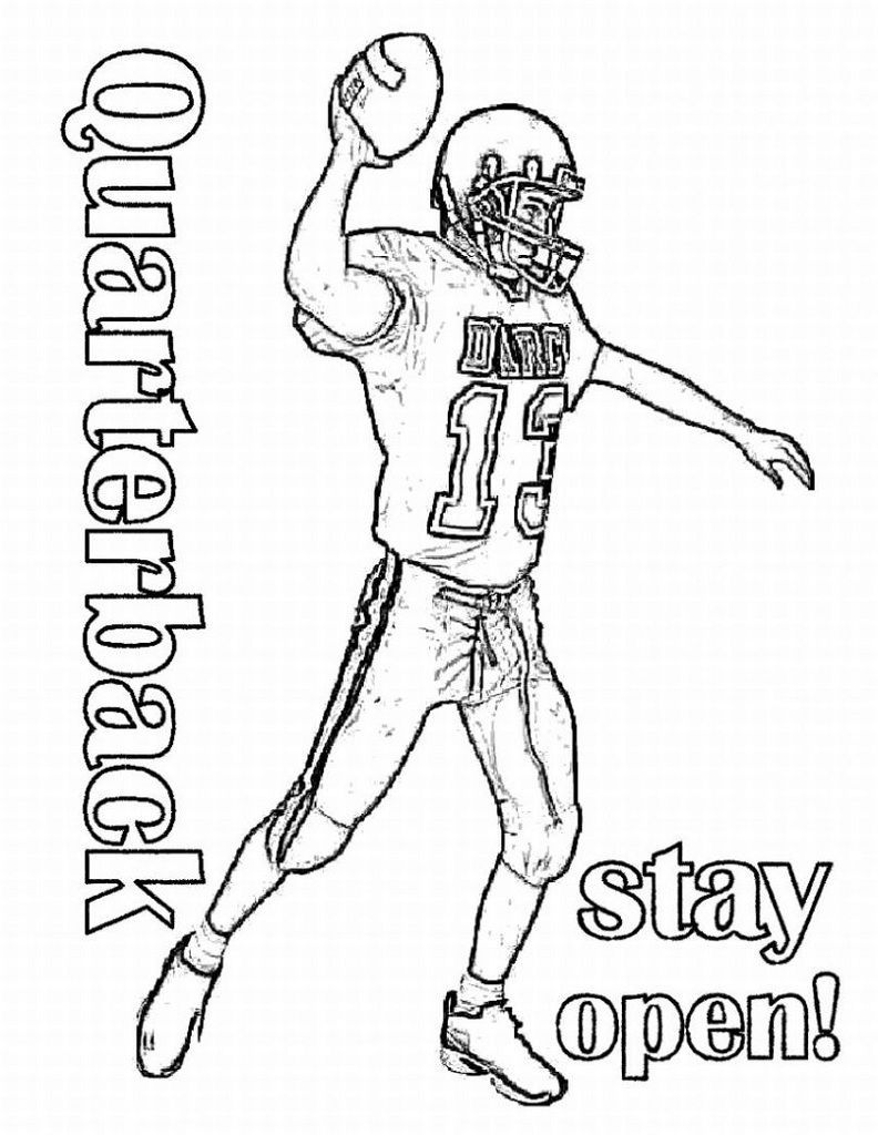 Football Coloring Pages Quarterback
