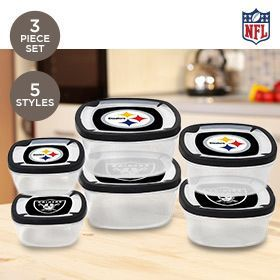 Great deal and Pittsburgh steelers food storage containers