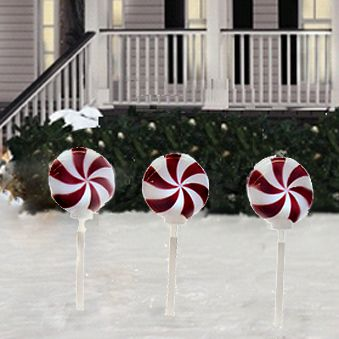 Candy Swag Christmas Lights Led Twinkling Peppermint