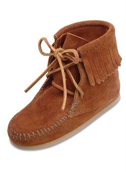 bd2b238acbd00 Minnetonka Moccasin boot, or luxury kid swag. | Shop USA | Moccasin ...
