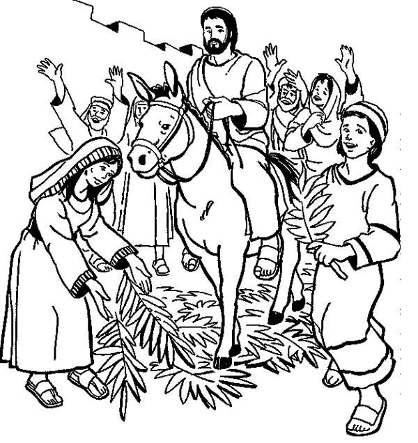 Palm Sunday Coloring Pages Sunday School Coloring Pages Palm