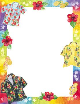 Summer fun borders pictures to pin on pinterest pinsdaddy - Beach Hawaiian Border Paper Pictures To Pin On Pinterest