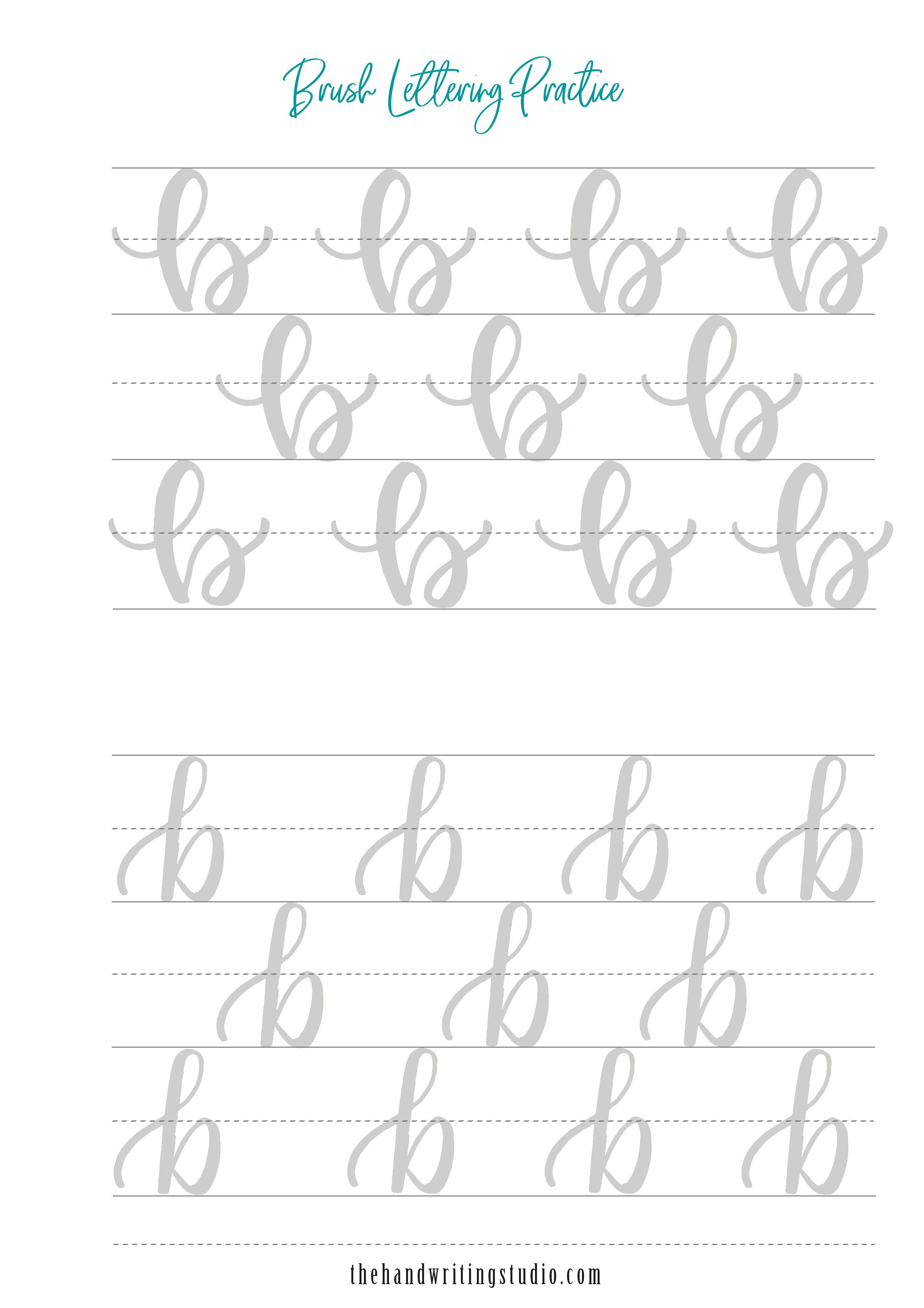Brush Lettering Worksheets Modern Calligraphy Worksheets
