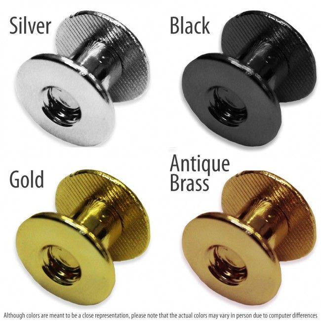Aluminum Screw Posts [Assorted Sizes & Colors]