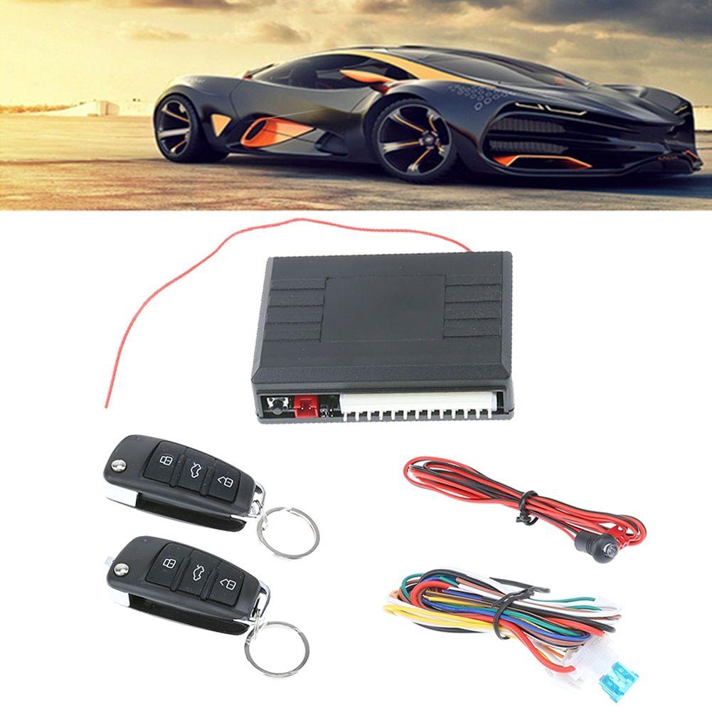 New Pke Car Alarm System Passive Keyless Entry Car Alarm Siren Remote Open Trunk Auto Central Door Lock For Dc12v Cars Burglar Alarm