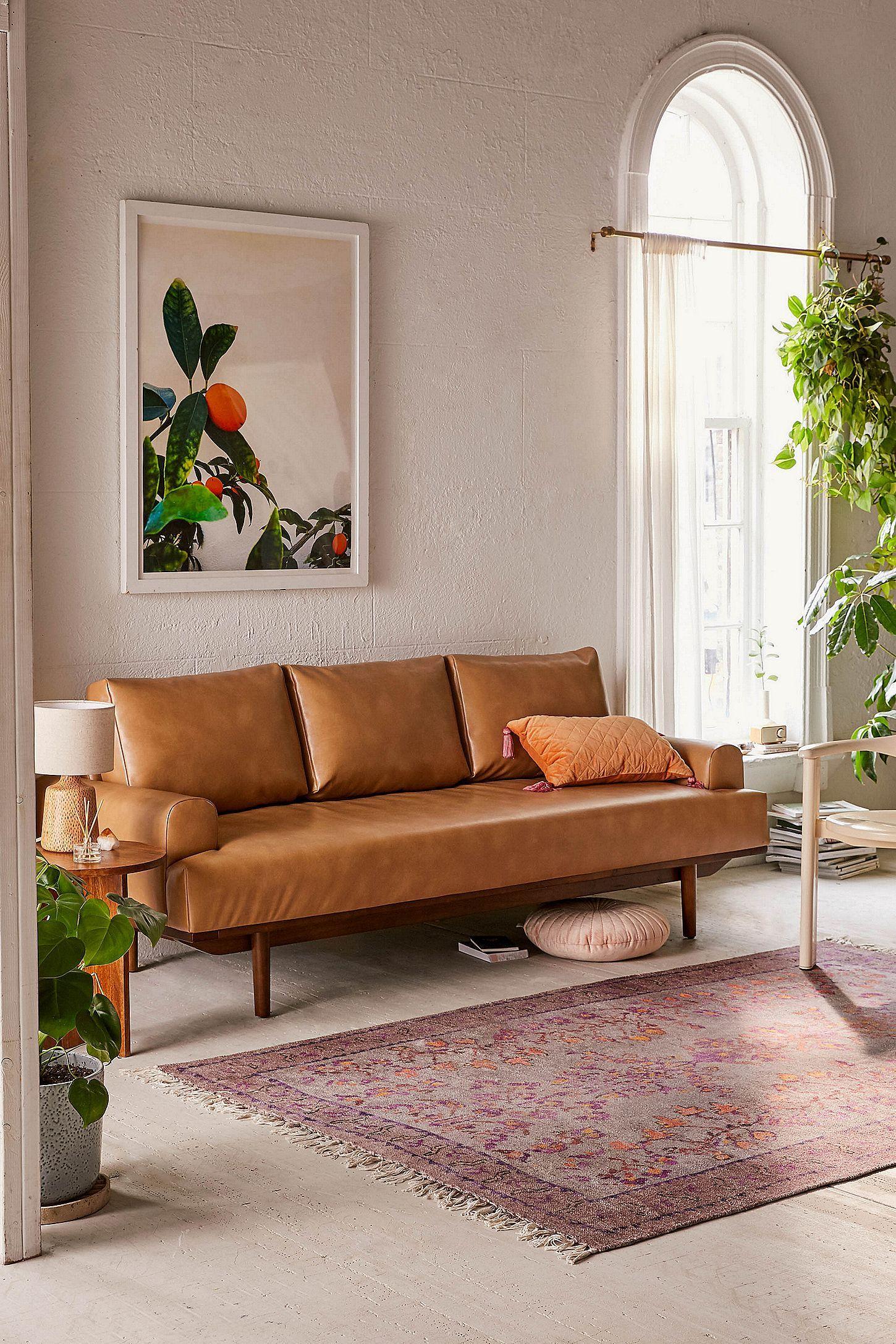 Sabrina Vegan Leather Sofa Faux Leather Sofa Leather Sofa Urban Outfitters Furniture